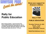 Rally for Public Education