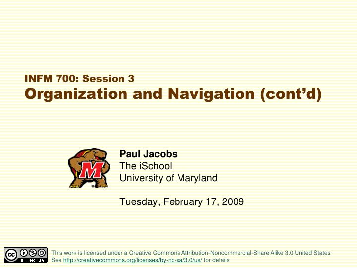 infm 700 session 3 organization and navigation cont d n.