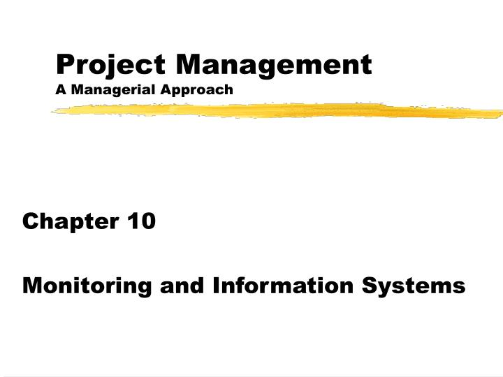 project management a managerial approach n.