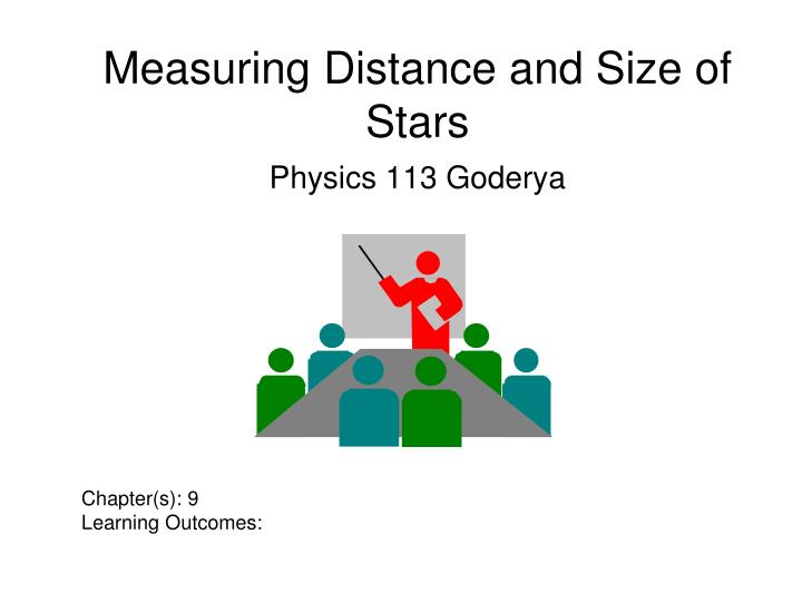 measuring distance and size of stars n.