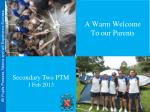 A Warm Welcome To our Parents