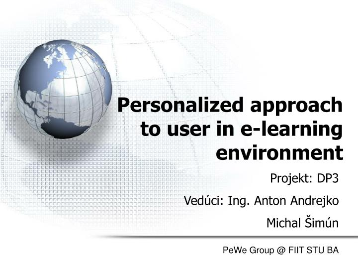 personalized approach to user in e learning environment n.