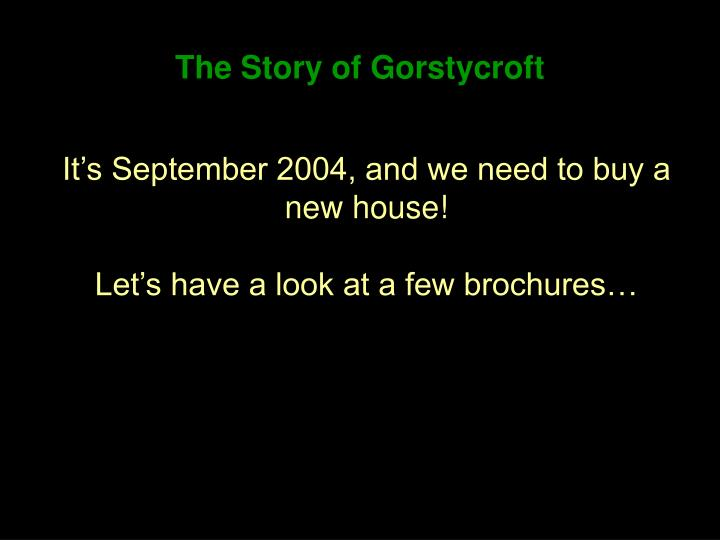 the story of gorstycroft n.