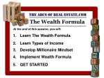 The Wealth Formula