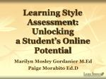 Learning Style Assessment: Unlocking a Student's Online Potential