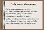 Performance Management