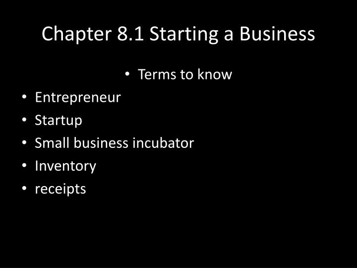 chapter 8 1 starting a business n.