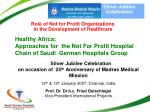 Role of Not for Profit Organizations in the Development of Healthcare