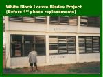 White Block Louvre Blades Project               (Before 1 st  phase replacements)