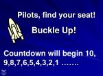 Pilots, find your seat!