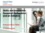 Skills and Innovation: Research Reflections and an Initiative