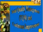 Total Quality Management  (TQM) and  Continuous Improvement