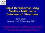 Rapid Dereplication using Capillary NMR and a Database of Structures