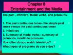 Chapter 8 Entertainment and the Media