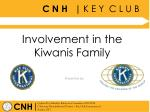 Involvement in the Kiwanis Family
