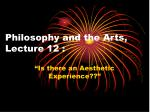 Philosophy and the Arts, Lecture 12 :