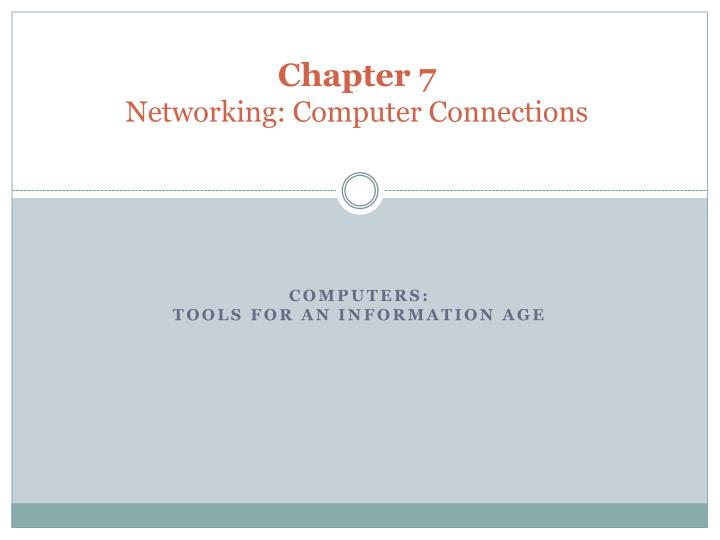 chapter 7 networking computer connections n.