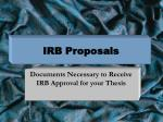 IRB Proposals