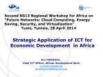 Strategic Application of ICT for Economic Development in Africa