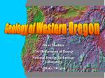 Geology of Western Oregon