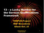 13 – a Lucky Number for the German Qualifications Framework