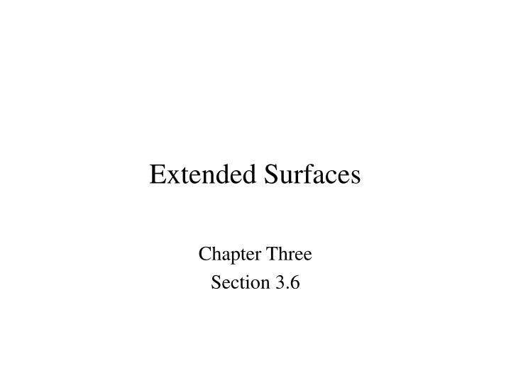extended surfaces n.