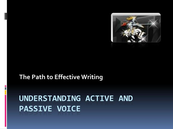 the path to effective writing n.