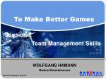 Team Management Skills