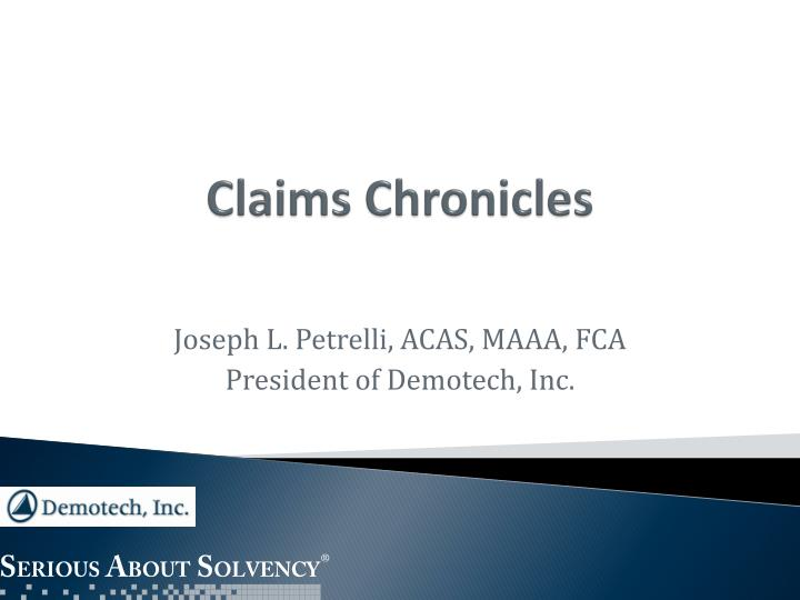 claims chronicles n.