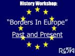 History Workshop: