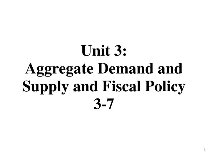 unit 3 aggregate demand and supply and fiscal policy 3 7 n.