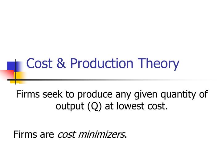 cost production theory n.