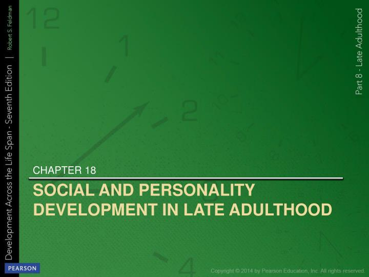 social and personality development in late adulthood n.