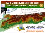 Gulf Coast Stacked Storage SECARB Phase II Test #1