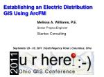 Establishing an Electric Distribution GIS Using ArcFM