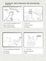 Storyboard: Manic Depressive Kitty Goes Bowling by Mark Teal