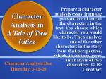 Character Analysis in A Tale of Two Cities