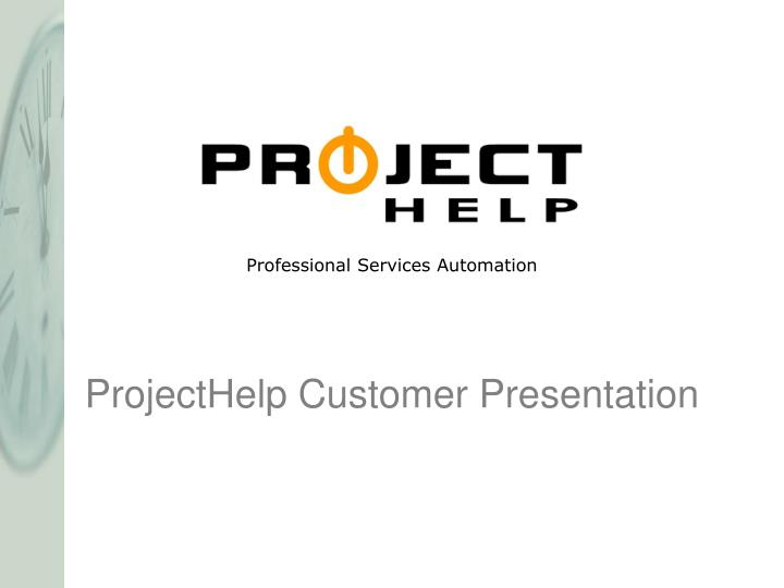 projecthelp customer presentation n.