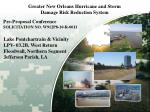 Greater New Orleans Hurricane and Storm Damage Risk Reduction System