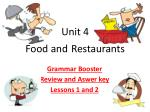 Unit 4  Food and Restaurants