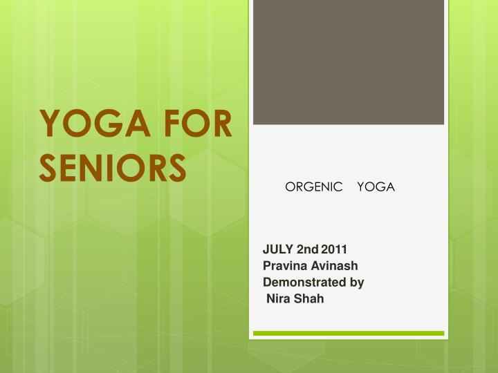 yoga for seniors n.
