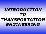 INTRODUCTION TO THANSPORTATION ENGINEERING