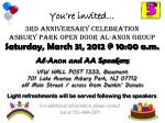 You're invited… 3rd ANNIVERSARY CELEBRATION  ASBURY PARK OPEN DOOR AL-ANON GROUP