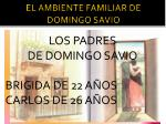 EL AMBIENTE FAMILIAR DE DOMINGO SAVIO