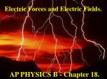 Electric Forces and Electric Fields.