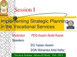 Implementing Strategic Planning in the Vocational Services