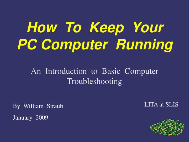an introduction to basic computer troubleshooting n.