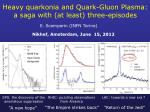 Heavy quarkonia and Quark-Gluon Plasma: a saga with (at least) three-episodes