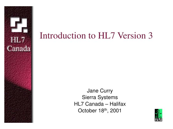 introduction to hl7 version 3 n.