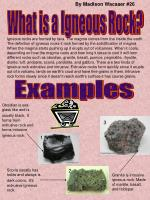 What is a Igneous Rock?
